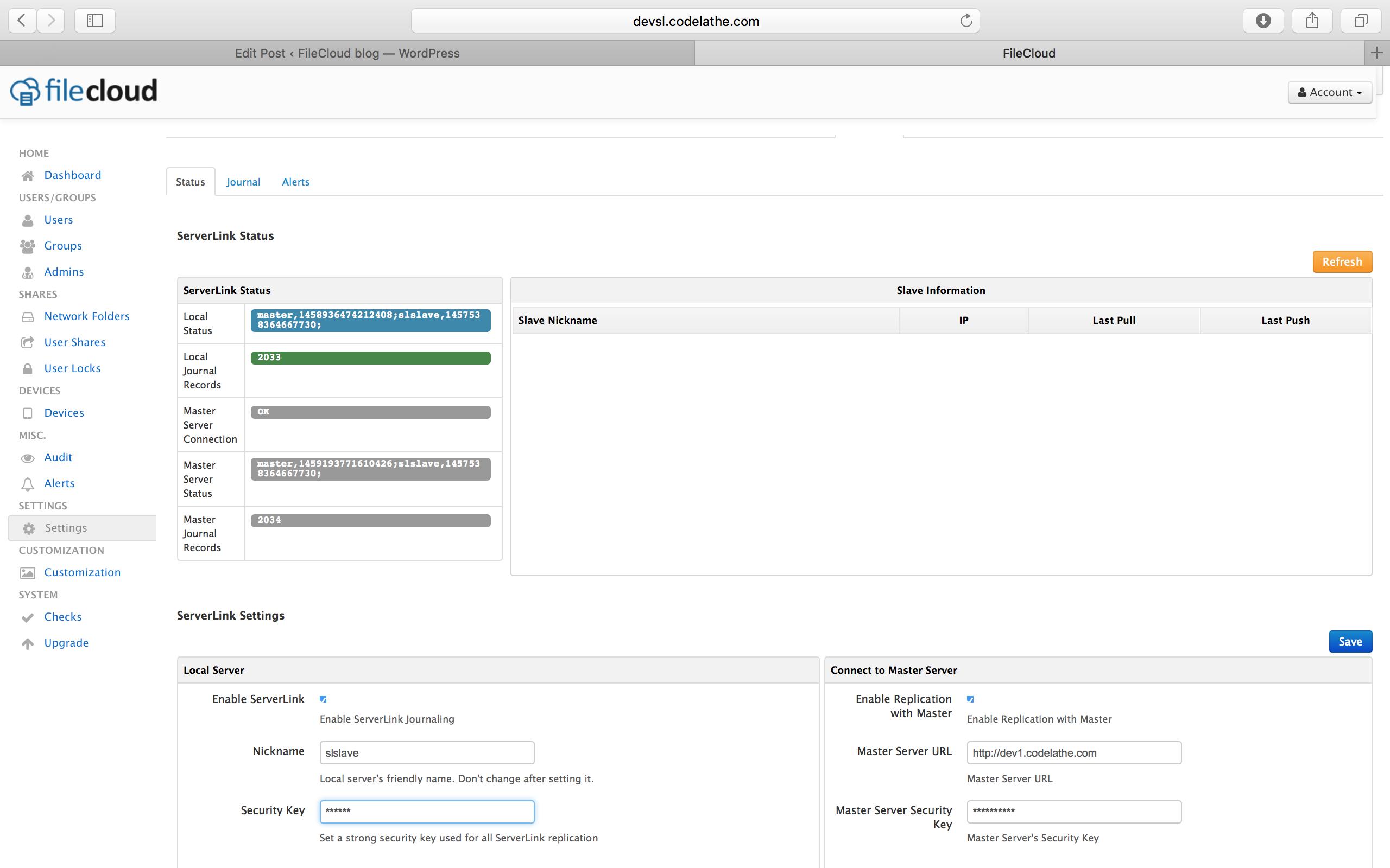 ServerLink-Branch Office File Sharing
